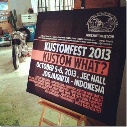 kustomfest yogyakarta 2013 campaign