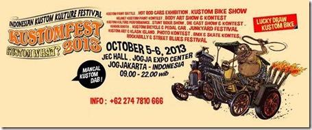 kustomfest yogyakarta 2013 pamflet