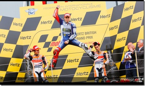 lorenzo win selebration