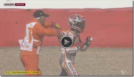 marc marquez crash on silverstone