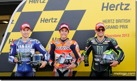 marquez pole position on silverstone
