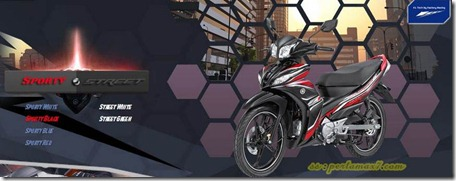 yamaha jupiter z1 sporty black
