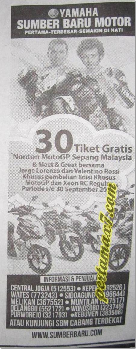 yamaha motogp edition gratis ke sepang