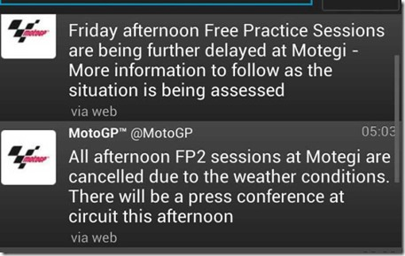 free practice 2 motogp japan delay