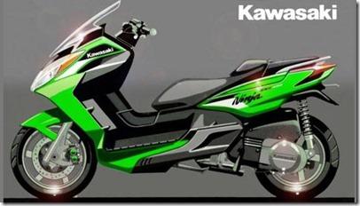 kawasaki j300 big scooter render