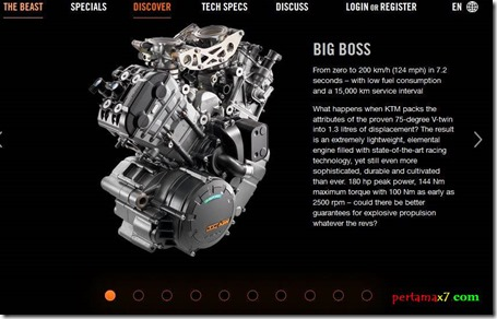 ktm 1290 superduke ENGINE