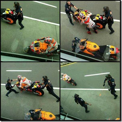 marquez pit stop flag to flag