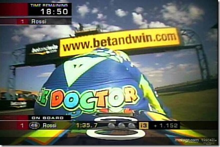 valentino rossi on board camera