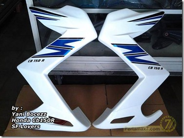 honda CB150R pakai half fairing ala Kawasaki Z250 1