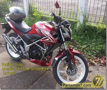 Honda CB150R pakai knlapot Suzuki Satria Fu 2 (Small)
