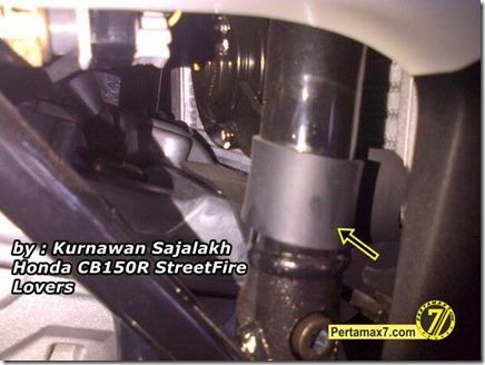 karet pelindung kipas radiator honda CB150R 1