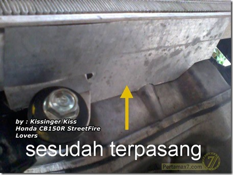 pelindung kipas radiator honda CB150R 1