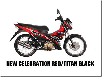 Suzuki Raider J 115 F  new-celebration-red