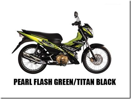 Suzuki Raider J 115 F  pearl-flash-green