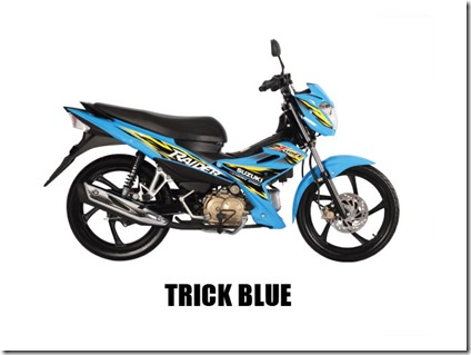Suzuki Raider J 115 F trick-blue