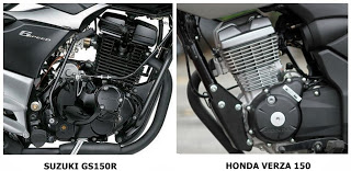 verza vs gs150r engine