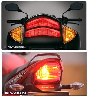 verza vs gs150r lampu rem