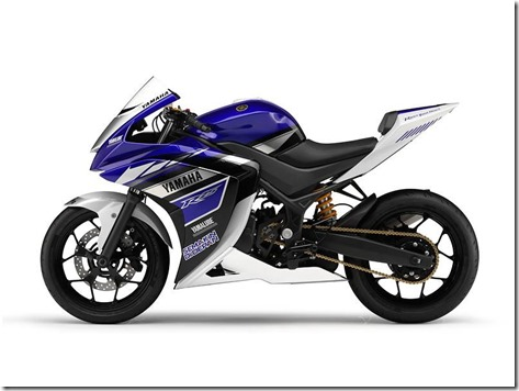 yamaha R25 side