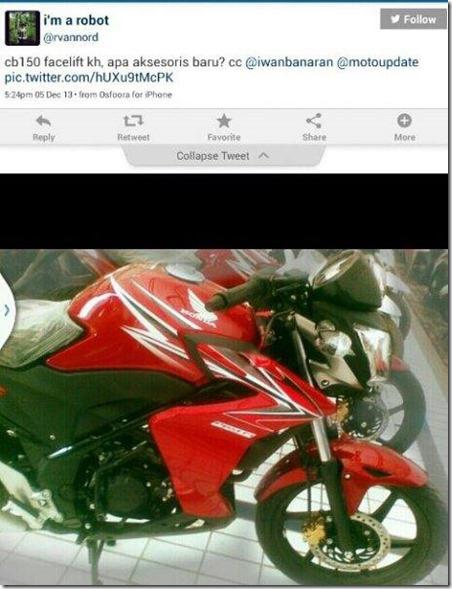Half fairing Honda CB150 dealer