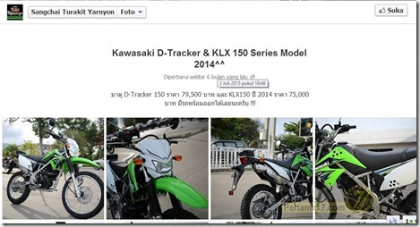 kawasaki KLX and D-tracker Thailand