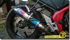 Modifikasi Honda CB150R ala supermoto  3