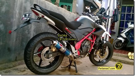 Modifikasi Honda CB150R ala supermoto  6