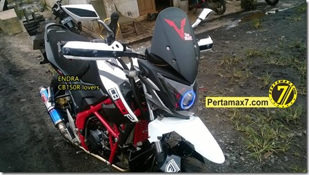 Modifikasi Honda CB150R ala supermoto  7