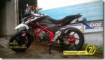 Modifikasi Honda CB150R ala supermoto b
