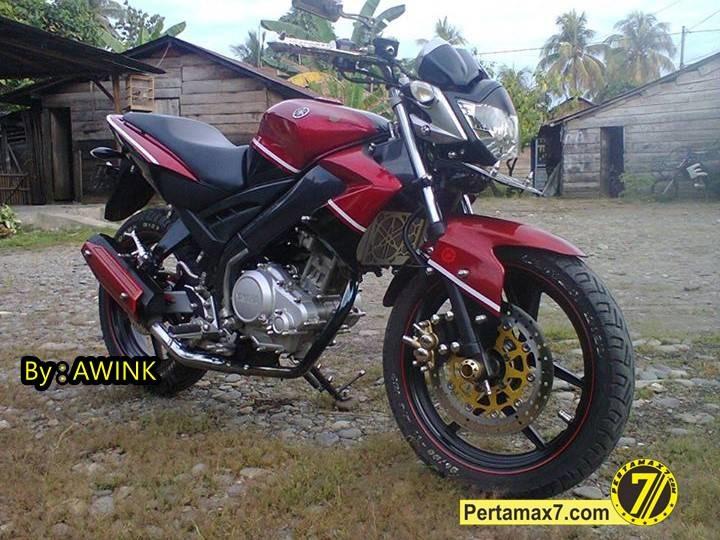 Modifikasi Yamaha Vixion 2011 Tonjolkan Baut Monel Pertamax7com