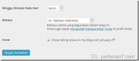 snow failing