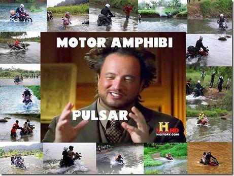 bajaj pulsar motor amfibi