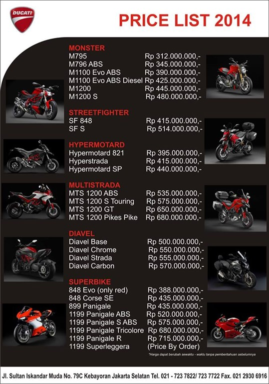 Kawasaki Indonesia Price List