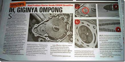 gear starter Honda CB150R ompong