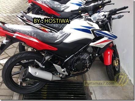 honda CB150R red white blue