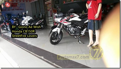 honda CB150R white red