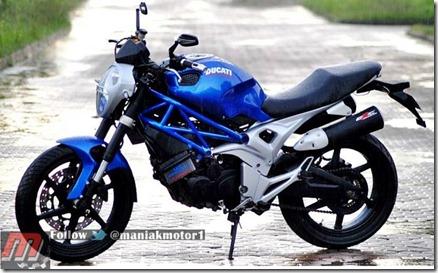 Honda tiger ala ducati monster 795 1