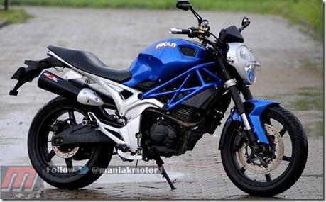 Honda tiger ala ducati monster 795 4