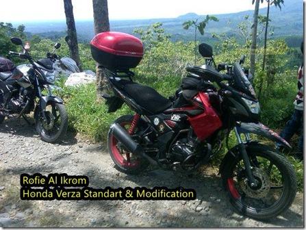 Modifikasi Honda Verza Ala Touring Dengan Shroud Yamaha New Scorpio Dan Spakbor Zx130 Ajib Pertamax7 Com