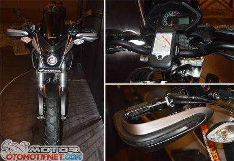 Modifikasi Honda New Megapro touring ala AHM 10