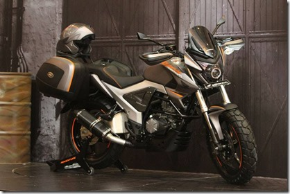 Modifikasi Honda New Megapro touring ala AHM 19