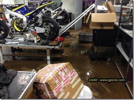 Tech 3 Yamaha workshop damaged by floods  8