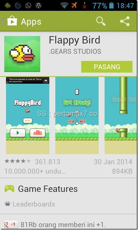 FlappyBird on playstore