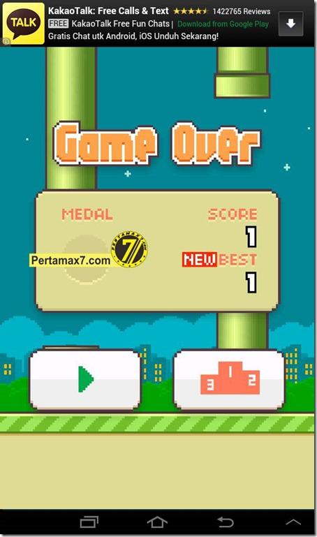 FlappyBird score