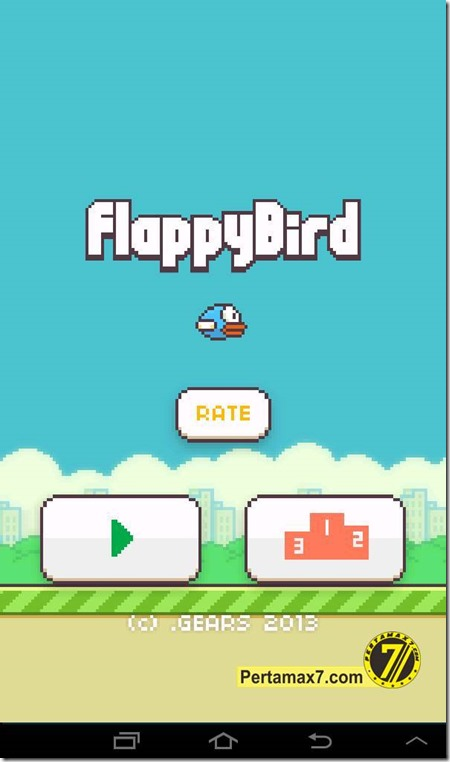 FlappyBird welcome screen