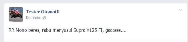 Rabu 26 Februari 2014 muncul Honda Supra X 125 Fi dan CBU Suzuki, Jum