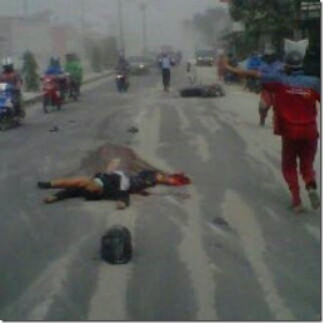 kecelakaan motor akibat debu vulkanik