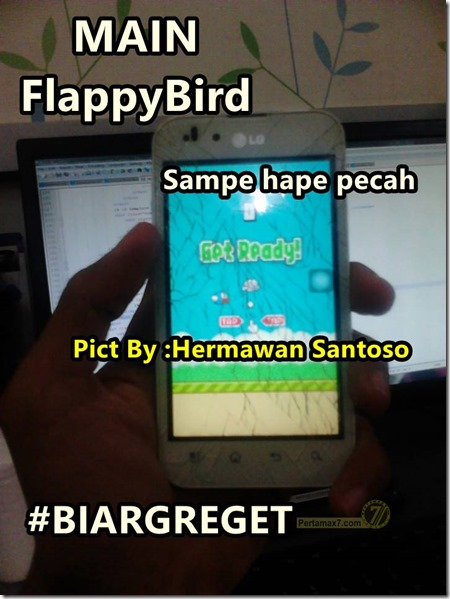 main FlappyBird sampai hape pecah