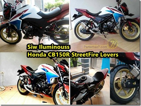 Modifikasi Honda CB150R dengan Air Scoop yamaha new vixion lightning