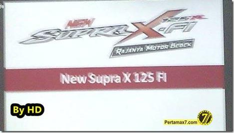 new Honda Supra X 125 FI