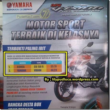 Perbandingan Konsumsi bahan bakar honda CB150R vs Yamaha New Vixion oleh KLH